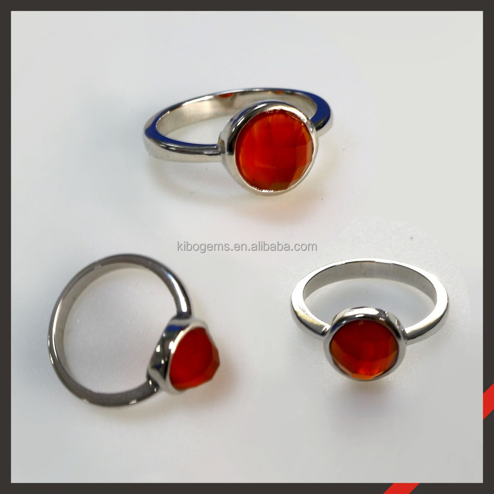 Qibao facshion factory direct sale red Agate stone stone jewelry