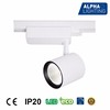 warm white 22w led cob track light alpha aluminum commercial lighting