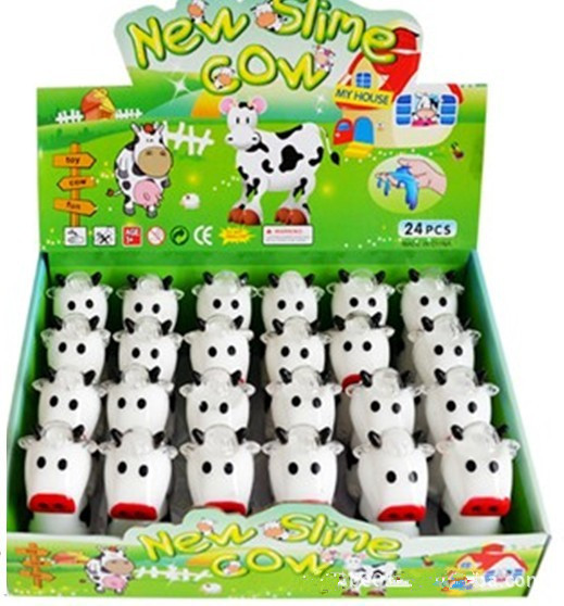 Wholesale free sample New slime cow Barrel toys for kids