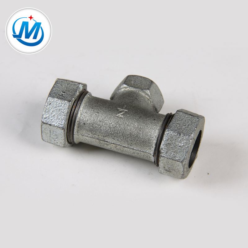 Sell to Africa Water Supply Iron Fitting Quick Connect Tube Connector Compression Tee