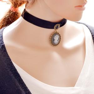 4f0908e13136a Boho Charm Choker Necklace Adjustable Suede Black Cord Pendant Necklace