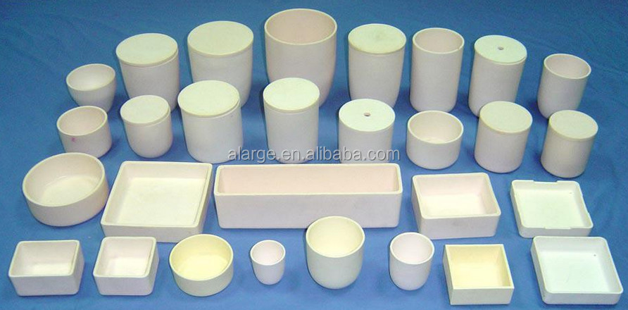High alumina porcelain crucible with cover