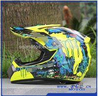 Wholesale Newest ABS Motorcycle Helmet of Full Face Unisex Graffiti Protective Capacete for Motocross Size S M L