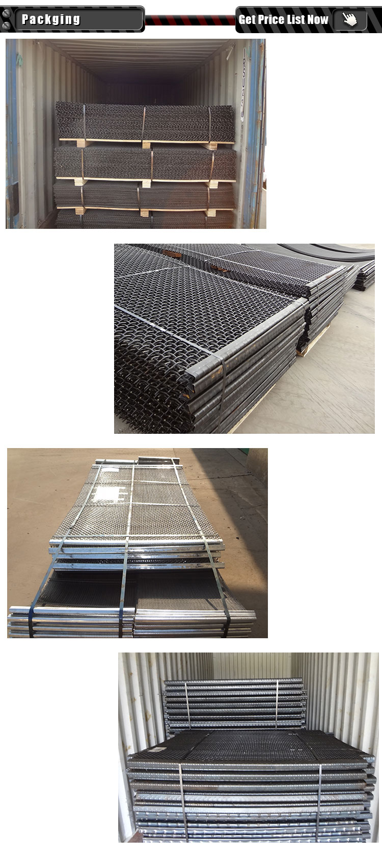 4.5mm Wire 65Mn steel Rock trommel Screen for Mining and Seiving