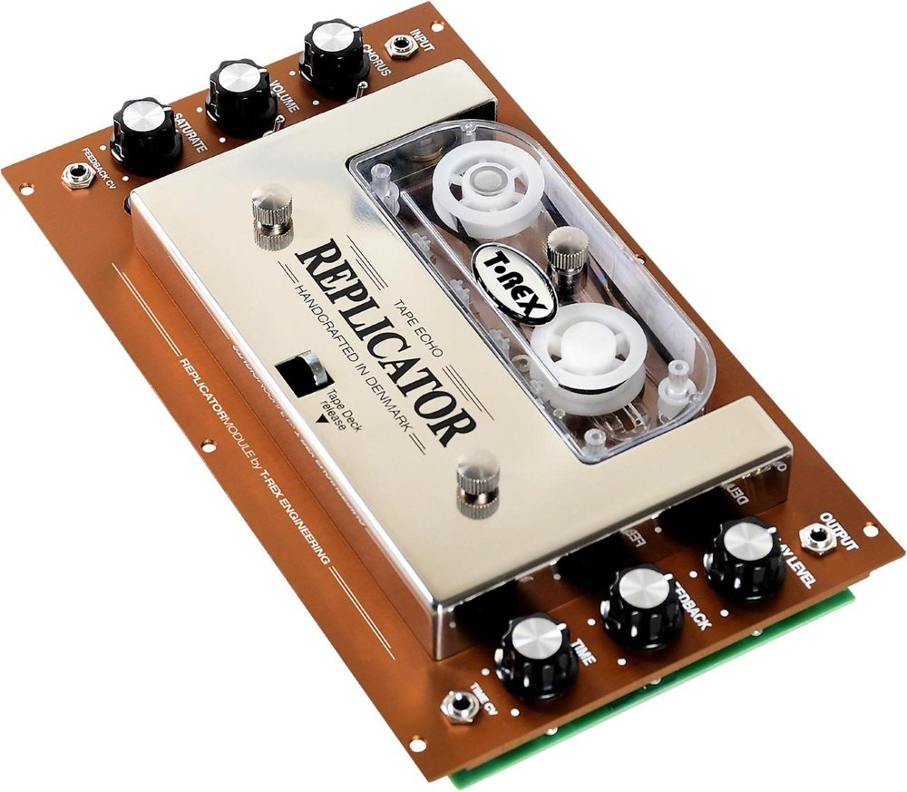 T-Rex Engineering REPLICATOR-MODULE Analog, True Tape Echo Guitar Effects Rack; Compatible with Compact Eurorack/Studio Module (44HP) (10037)
