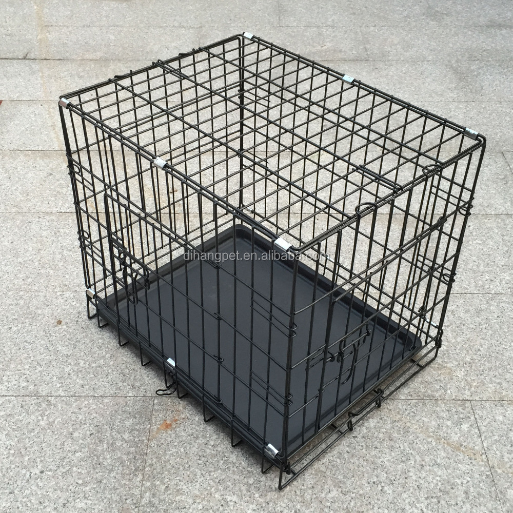 popular folding double door aluminum dog crate