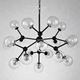 Modern Molecule chandelier Metal Plating Glass steel Northern Europe Style Pendent Dinning Lamp Bar Light