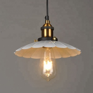 Nordic retro lamps and lanterns with single umbrella chandeliers lamp shades