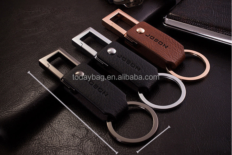 Good Quality Luxury Zinc Alloy Leather Keychain Made in China