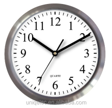 Silent sweep movement quartz aluminium customize wall clock