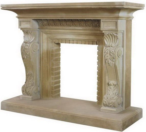 Custom Designed Factory Wholesale Marble Carved Decorating Fire Places