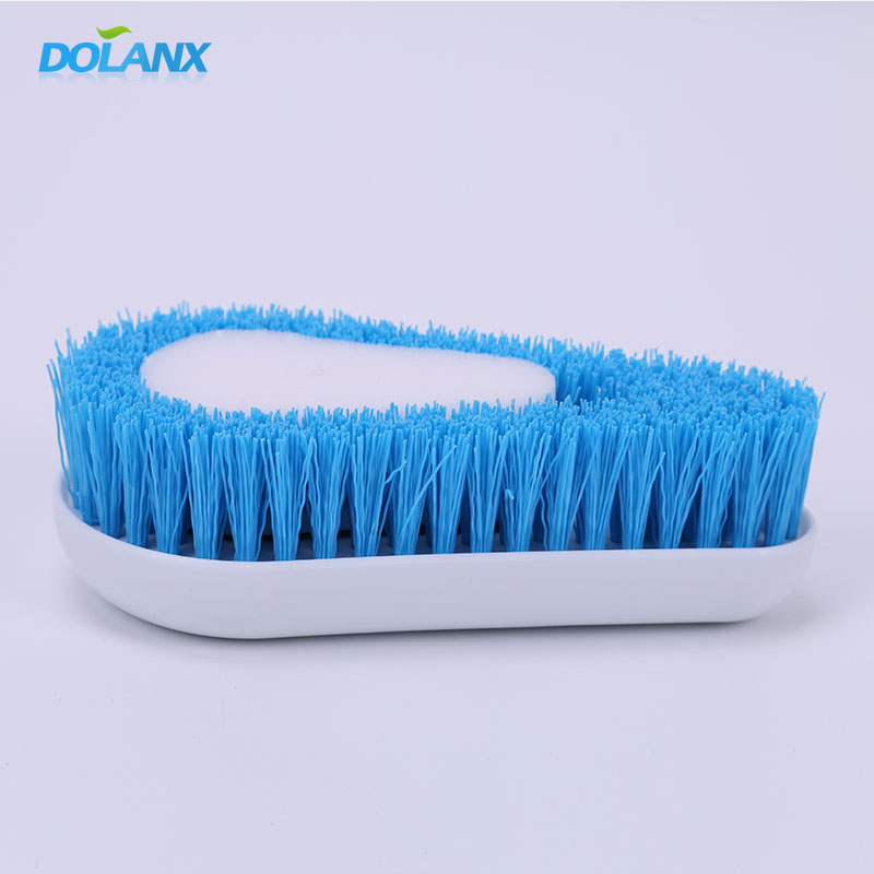 SALES PROMOTION STOCKED PP Bristle Sponge Dish Cleaning Brush
