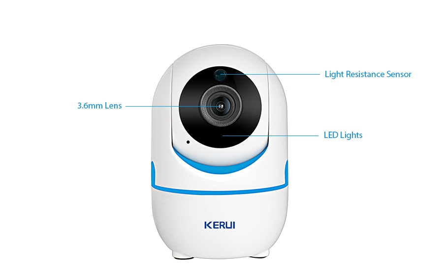 KERUI 1080p wifi ip Camera 360 degree  cctv wifi baby security cam Support 64G SD Card