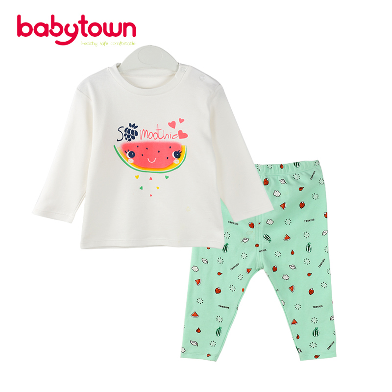 2017 new model design bulk produce spring and autumn baby clothing set