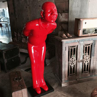 Life Size Craft Artificial Modern Figure Character red man sculpture