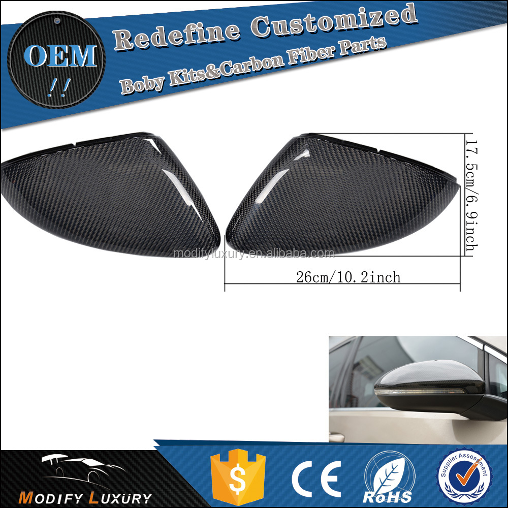 Light Weight Side Wing Mirror Caps for VW GOLF R MK7 Hatchback 2015