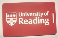 University Of Reading PVC luggage tag RED
