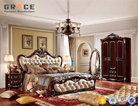 H8802R bed room set chinese bedroom furniture with wardrobe