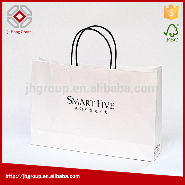 Fast delivery printed custom made shopping bag with inverted paper