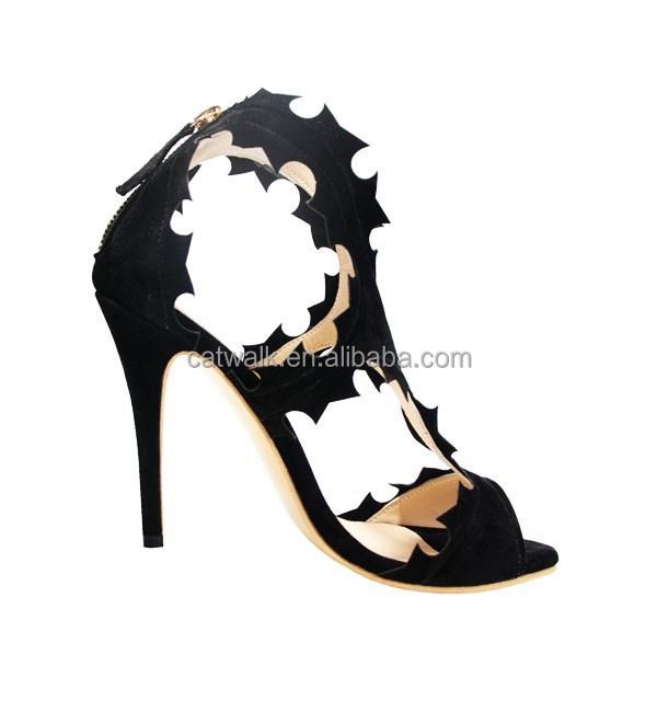 4 Colors Catwalk Soft Suede Designer Shoes Abnormal Cutting Shape ...