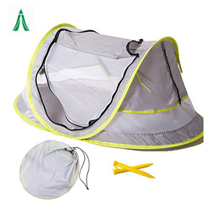 Instant Portable baby beach play tent infant travel bed UV protection sun tent Shelter,pop up baby mosquito net + 2 Stake Pegs-s