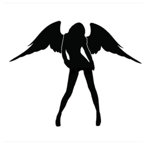 Car sticker jdm Reflective Angel and Devil