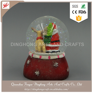 Polyresin Water Globe, Snow Globe For Souvenirs Photo Holder Snow Globe