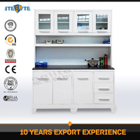 Modern kitchen system designs small kitchen cupboard / Zambia steel pantry cupboard