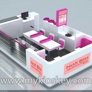 Beautiful Design Nail Polish Kiosknail Bar Kiosk For Manicurenail