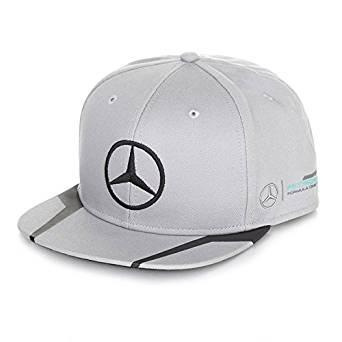 Mercedes Benz Petronas AMG Formula 1 Lewis Hamilton Gray Flat Brim Hat Cap