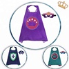 Cheap Kids Superhero Capes With Masks For Toddlers Cartoon Birthday Party Capes Halloween Cosplay Costumes