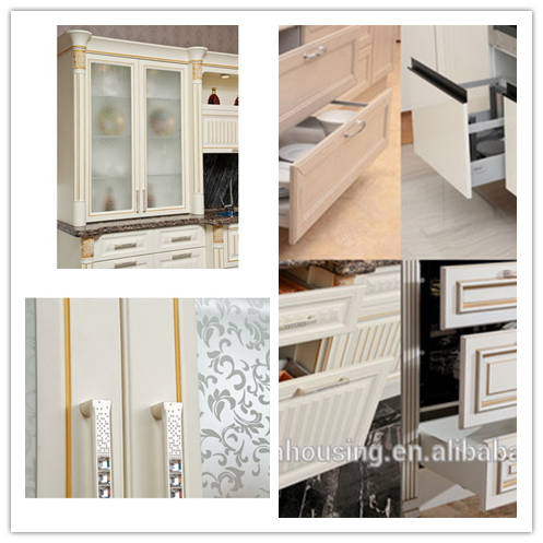 High quality ready made kitchen cabinets high glooss mdf for Ready made kitchen cabinets