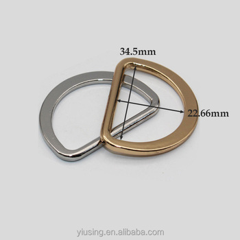 alloy rose gold custom logo bags metal D ring metal D buckle View