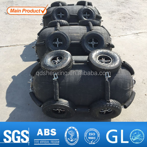 Inflatable Floating Rubber Fenders Used To Protect Boat
