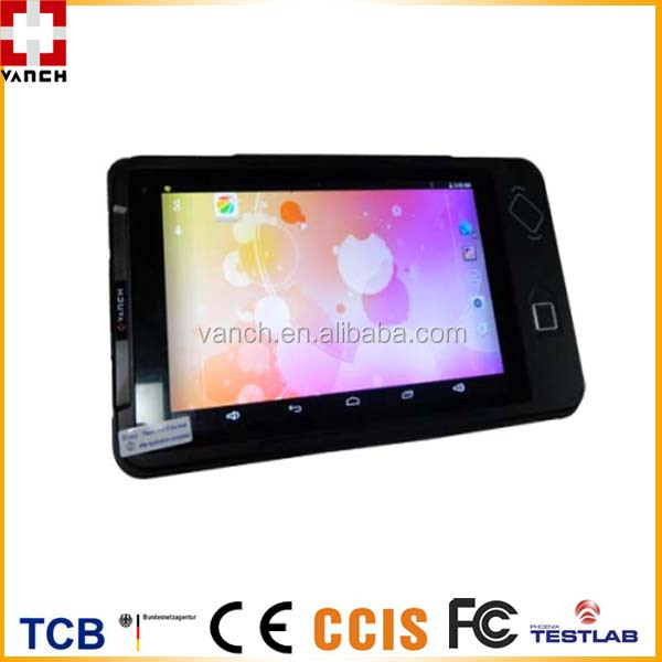 "VANCH Android 4.4/Windows 8.1 8"" NFC Tablet Reader with Barcode Scanner"