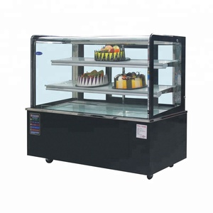 heavy duty vertical cake chiller refrigerated round display case