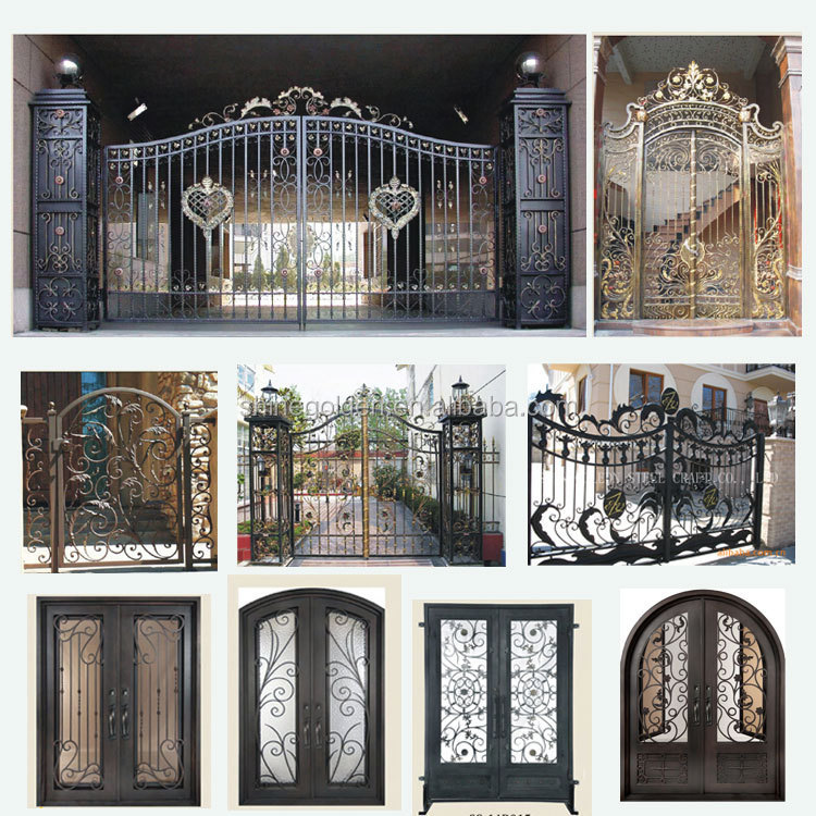 Gyd-15g1280 Modern Home Iron Gate Door Design Forge Gates