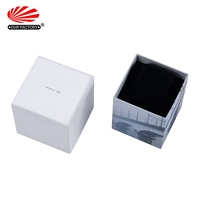 OEM Wholesale Custom Design Luxury Square Creative Paper Gift Box Watch Velvet Lined Boxes With Foam Insert