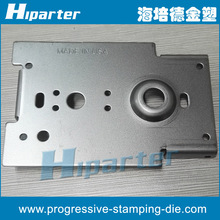 China metal backboard progressive stamping die , metal back plate punching part