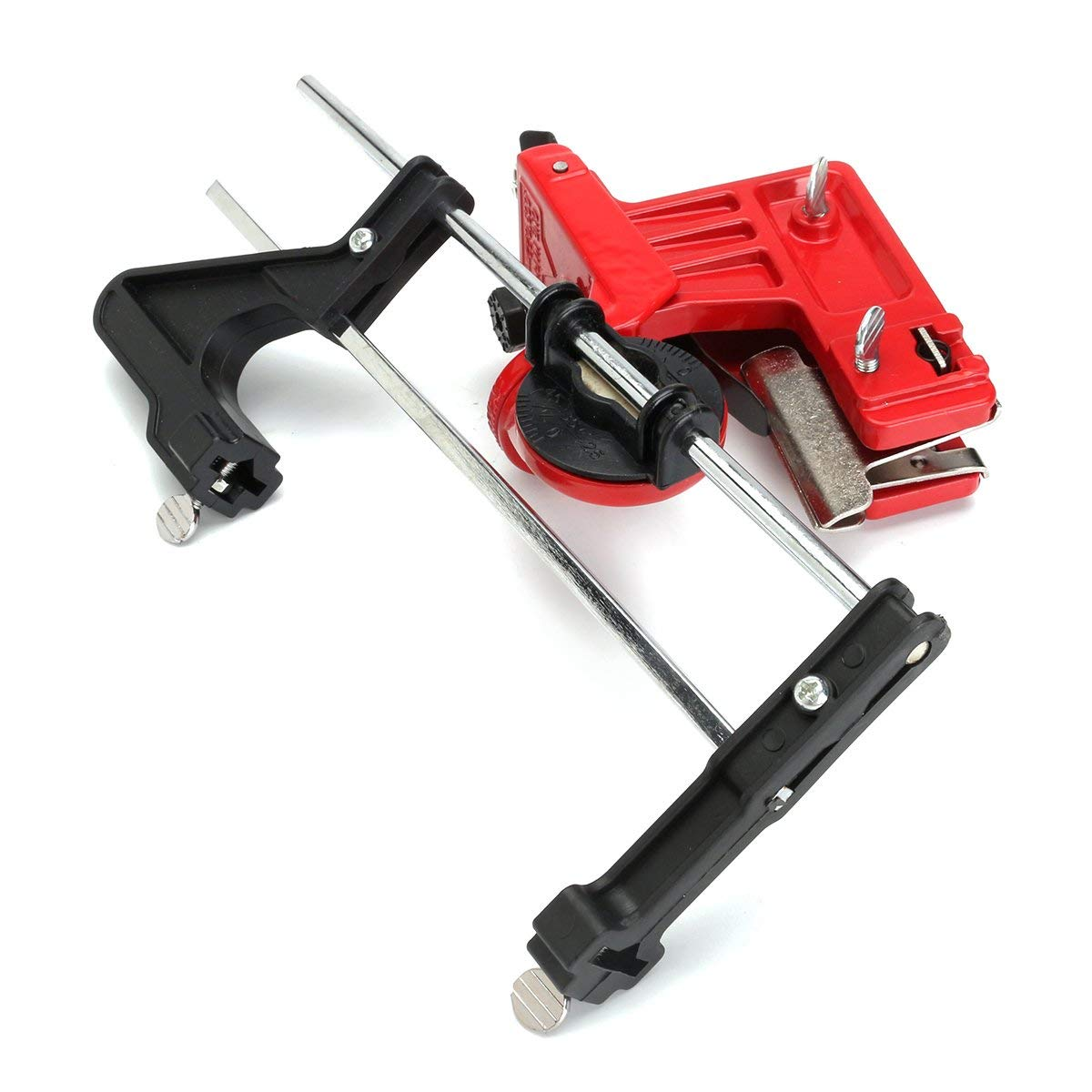 Get Quotations · Utini Chainsaw Clamp On Chain Sharpener Manual Grinding  Large Guide for All Brands