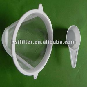 washerable nylon coffee filter with spoon