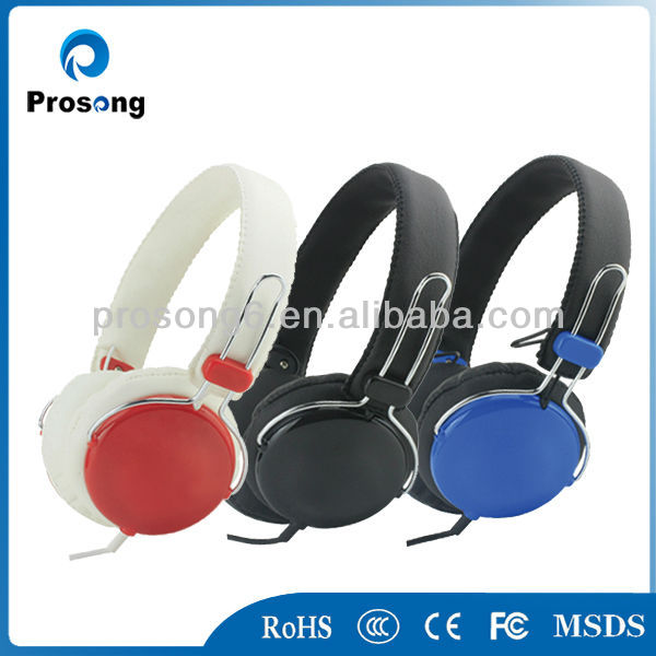 DJ studio headphones, headset with handsfree for MP3/MP4