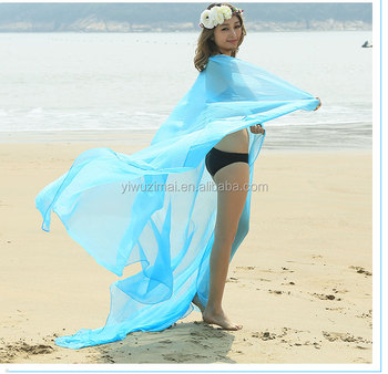 2ebfab1d6627a Women Sexy Chiffon Wrap Pareo Dress Sarong Beach Bikini Swimwear Cover Up  Scarf