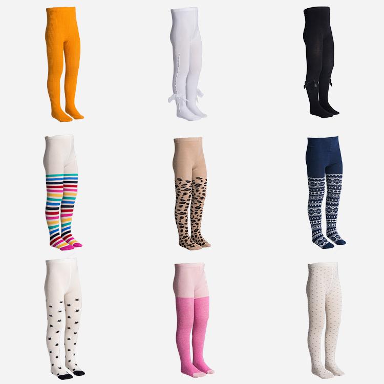 2020 Custom 80% Kapas Disisir Pantyhose Anak Perempuan Celana Ketat Dicetak/Gadis Putih Celana Ketat Anak-anak