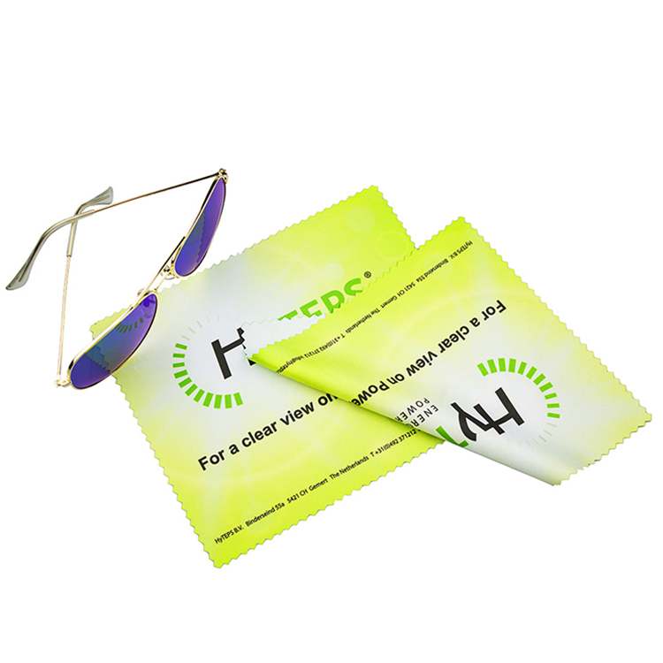 Logo printed microfiber lens cleaning cloth