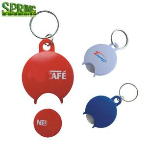 customized logo shopping cart coin key chain,quarter and loonie trolley cart token coin keyring,Shopping cart tokens keychain