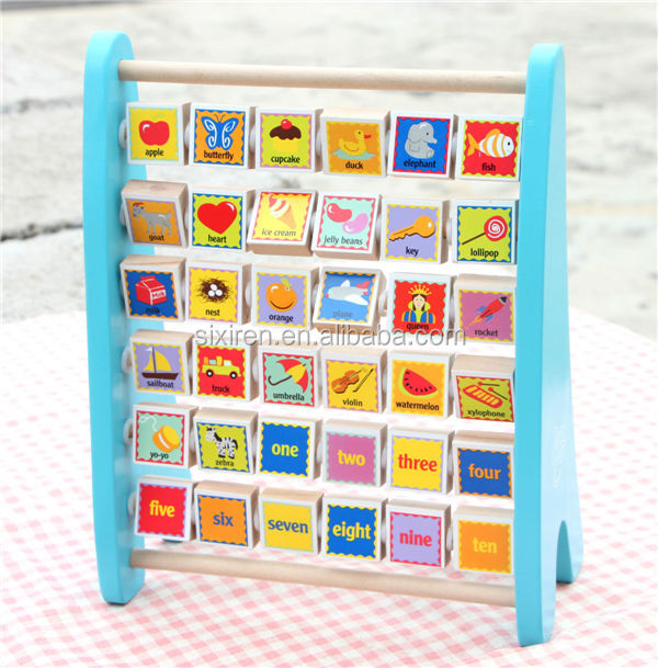 Alphanumeric Patterns Wooden Flap Frame Educational Toys for Kids