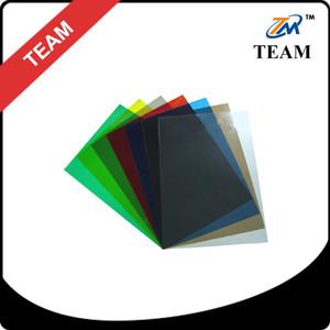 PVC binding cover transparent colour pvc plastic cover A4 PVC BINDING COVER