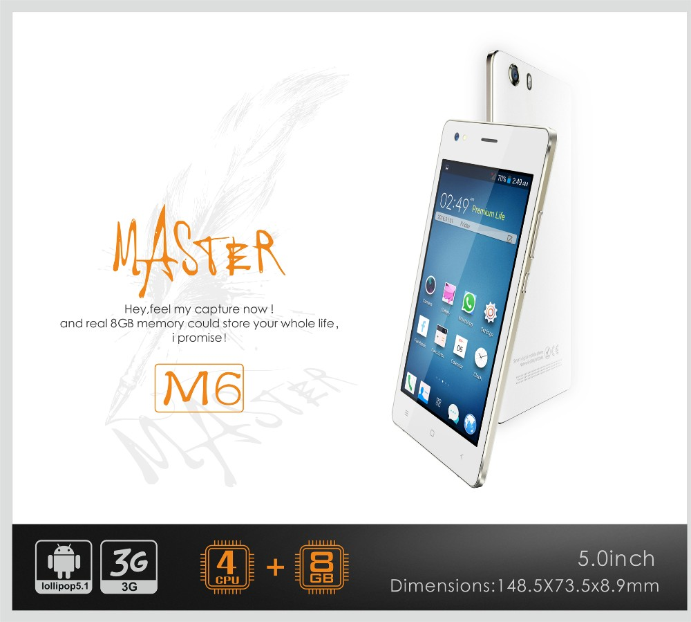 wholesalers china M6 custom android mobile phone 512+8G Spreadtrum 7731