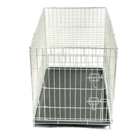 Top Quality Fashion Large Galvanized Pet Cage With Tray And Door For Dog Cat